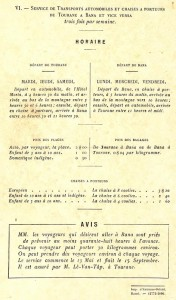 AP9105 light Sallet Affiche Horaires transports Tourane Bana 1924
